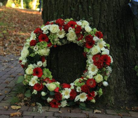 Fleurs pour enterrement à La Bassée